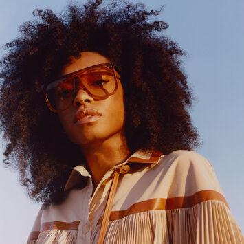 LOEWE Gafas Filipa Ciruela/Naranja/Amarillo Degra front