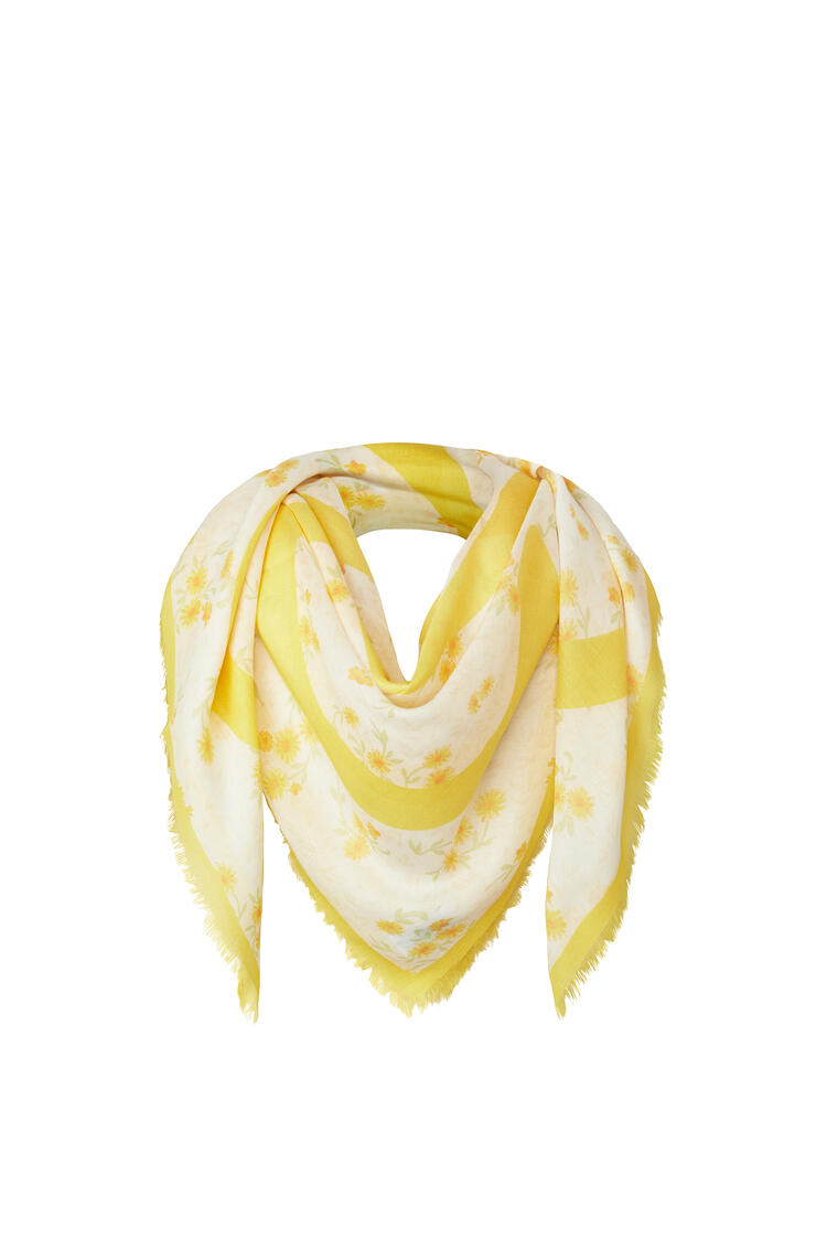 LOEWE 140 X 140 Cm Scarf In Modal And Cashmere Yellow pdp_rd
