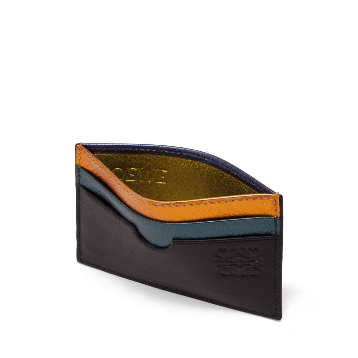 LOEWE レインボー プレーン カード ホルダー メタリックマルチカラー all