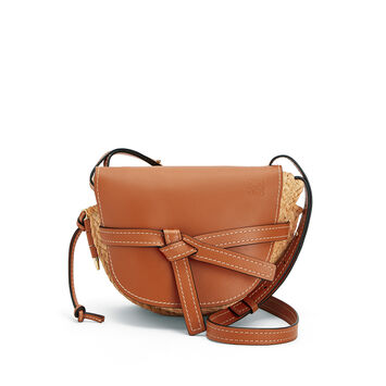 LOEWE Bolso Gate Small Bronceado/Natural front