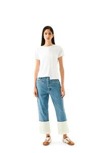 LOEWE Fisherman jeans in stone washed denim Blue Denim pdp_rd