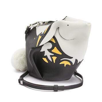 LOEWE Bunny Cowboy Mini Bag Black/Yellow Mango front