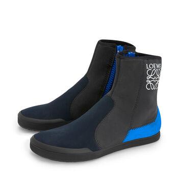 LOEWE Paula Scuba Boot Navy Blue/Dark  Grey front