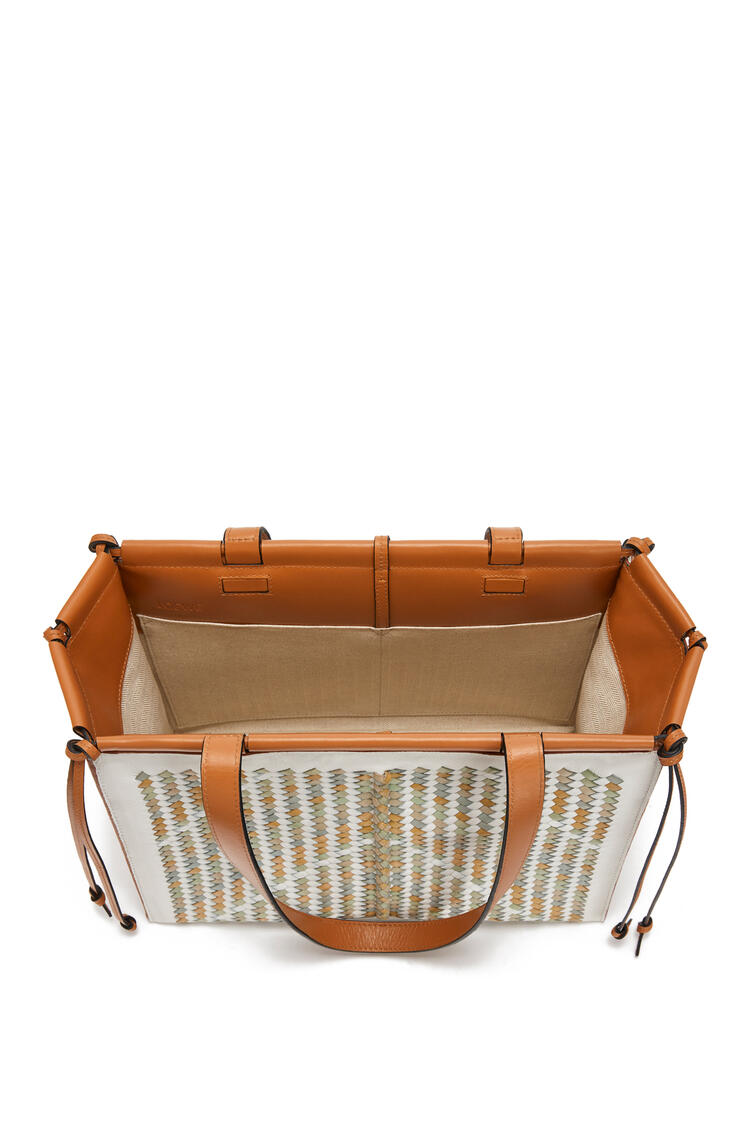 LOEWE Small Cushion Tote bag in buffalo and calfskin Honey/Multicolor pdp_rd