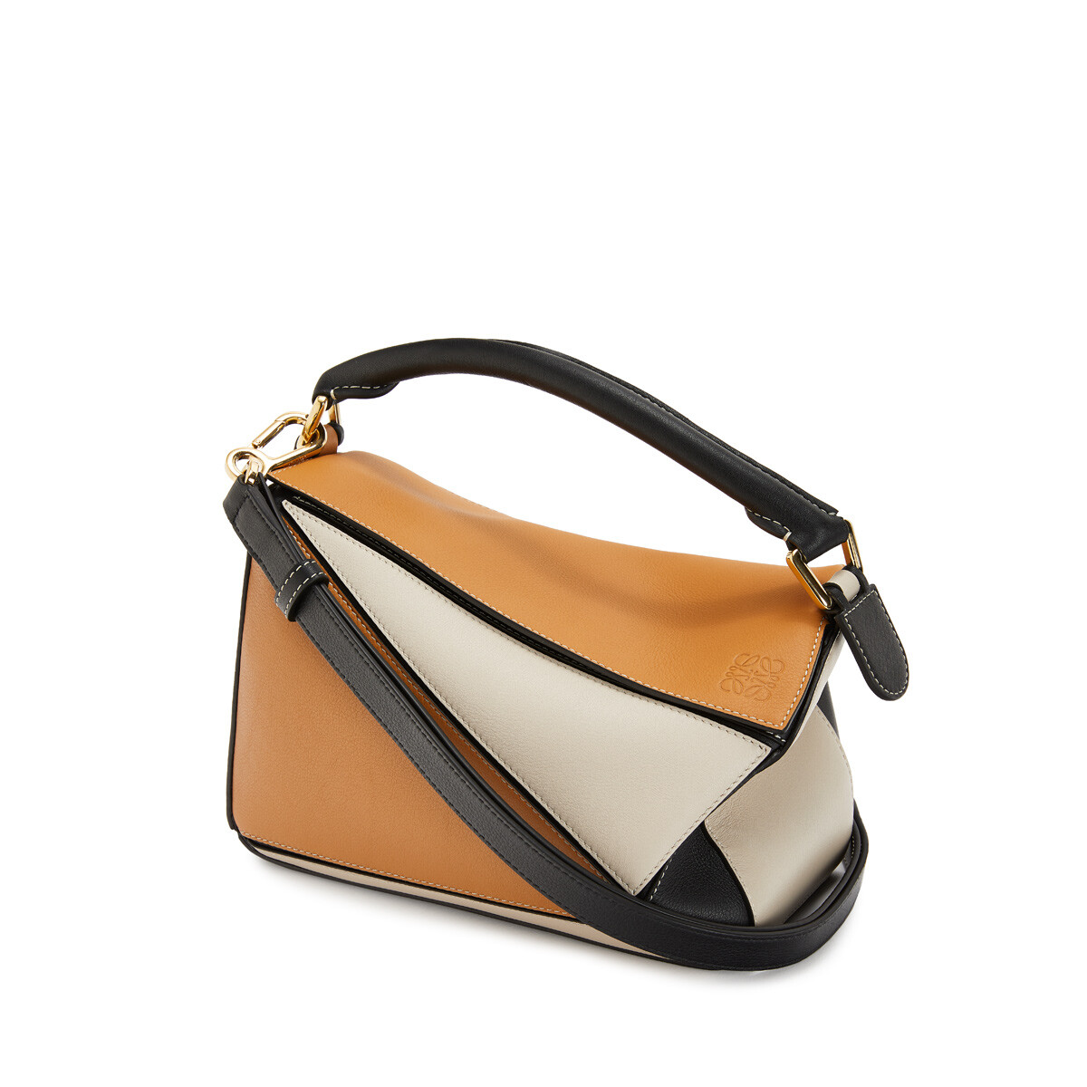 LOEWE Puzzle Small Bag Amber/Light Oat front