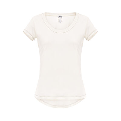 LOEWE Scoop Neck T-Shirt White front
