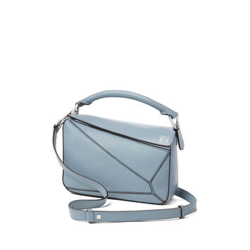 LOEWE Puzzle Small Bag 灰蓝色 front