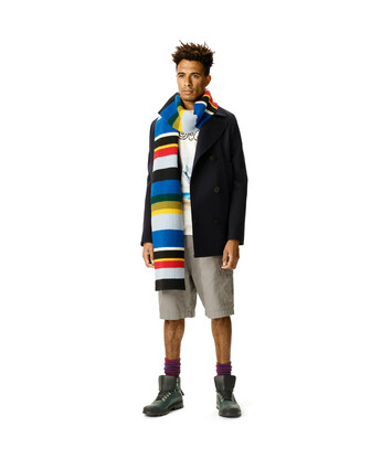 LOEWE Stripe Knit Scarf Multicolor front