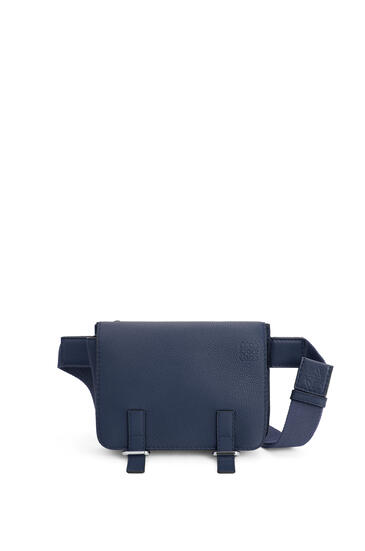 LOEWE Military bumbag in soft grained calfskin Midnight Blue pdp_rd