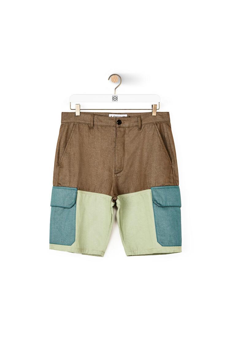 LOEWE 棉质短裤 Khaki Green/Green pdp_rd