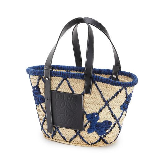 LOEWE Basket Animals ブルー front