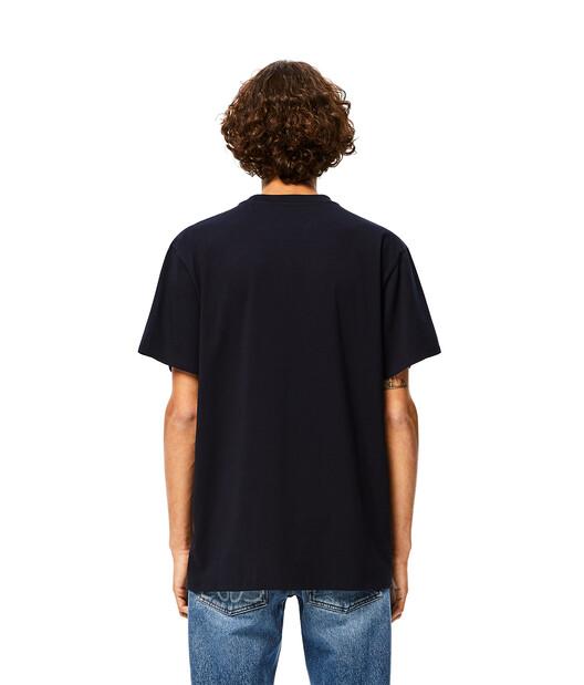 LOEWE Loewe Trim T-Shirt 海軍藍 front