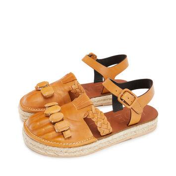 LOEWE Sandal Toes Camel front