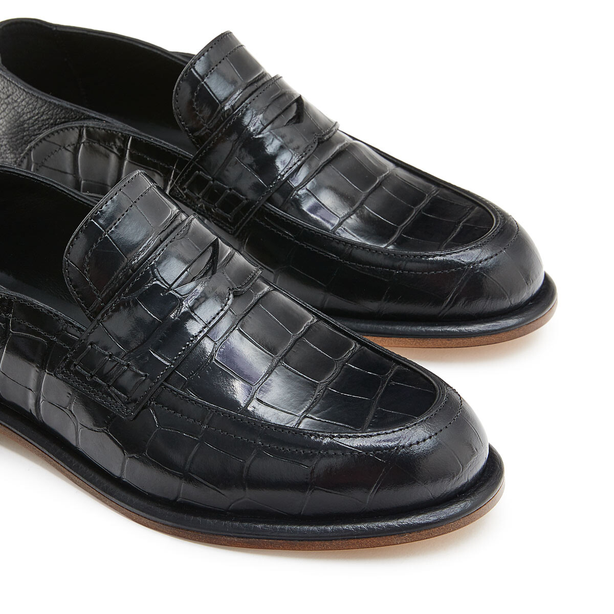 LOEWE Slip On Loafer Black/Black front