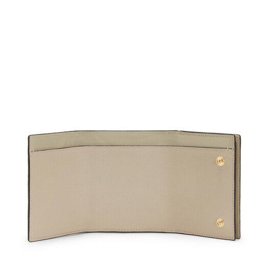 LOEWE Linen Trifold Wallet Ivory front