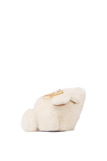 LOEWE Bunny charm in shearling Natural pdp_rd