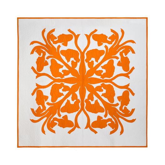 LOEWE 230X230 Blanket Koi 橘 front