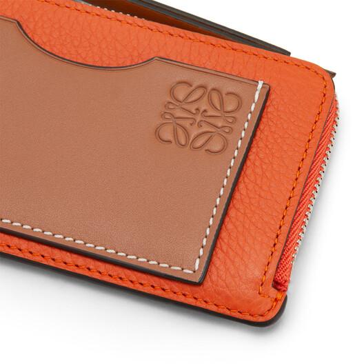 LOEWE Coin Cardholder Orange front
