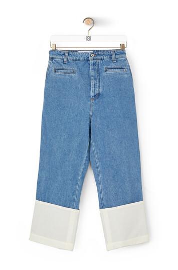 LOEWE Fisherman Stonewash Jeans Blue Denim front