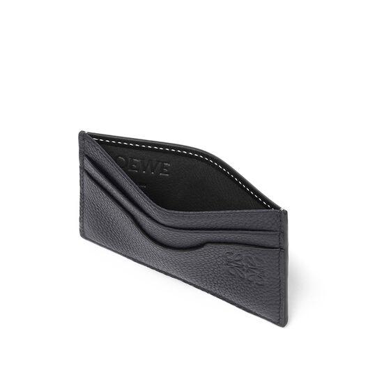 LOEWE Plain Card Holder Midnight Blue/Black all