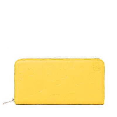 LOEWE Billetero C/Cremallera Queso Amarillo/Paladio front