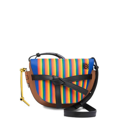 LOEWE Gate Rainbow Small Bag Multicolor/Tan front