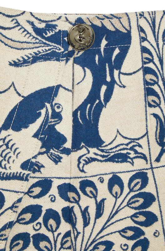 LOEWE Jacquard Wrap Skirt Animals White/Blue front