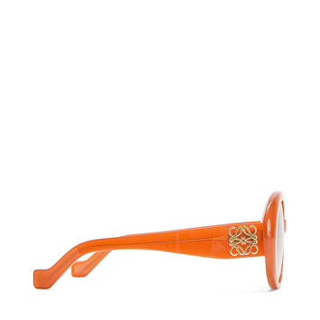 LOEWE Fw19 Show Anagram Sunglasses Brown/Rust Color front