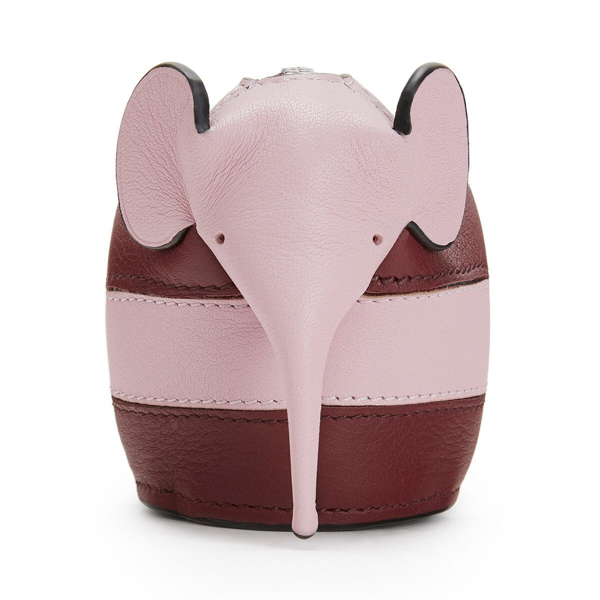 LOEWE Elephant Rugby  Charm Wine/Pastel Pink front