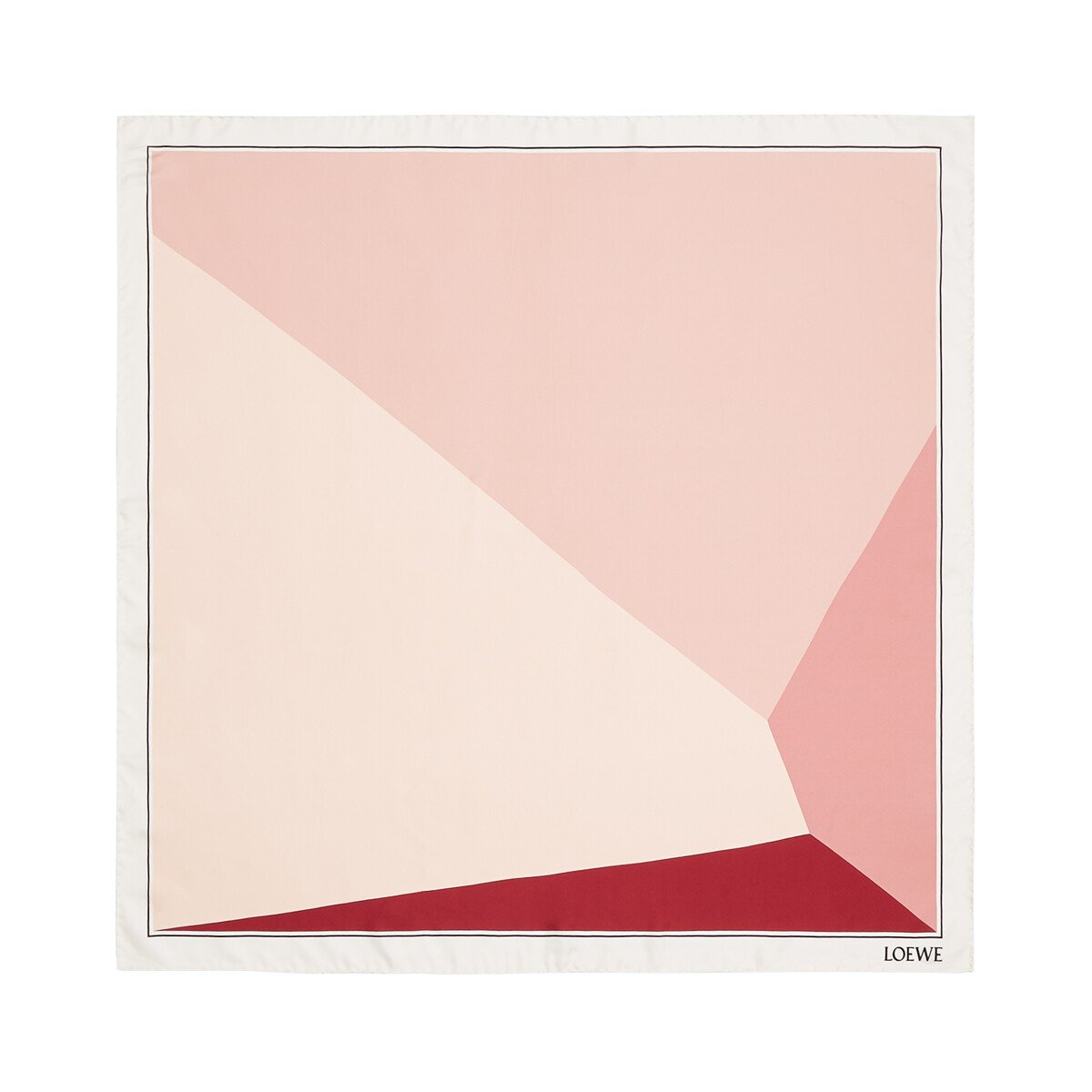 LOEWE 90X90 Scarf Puzzle Pink front