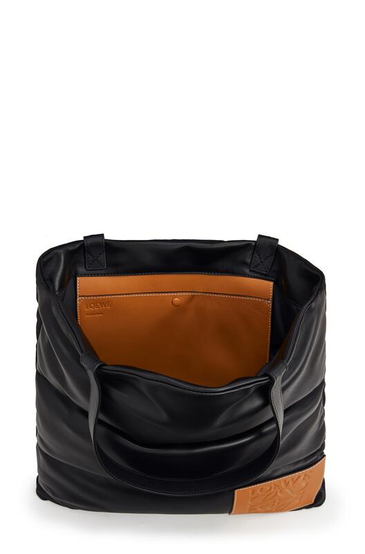 LOEWE Vertical Tote Puffy Bag Black front