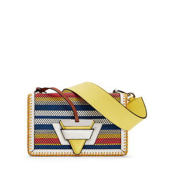 LOEWE Barcelona Woven Stripes Bag Soft White/Multicolour front