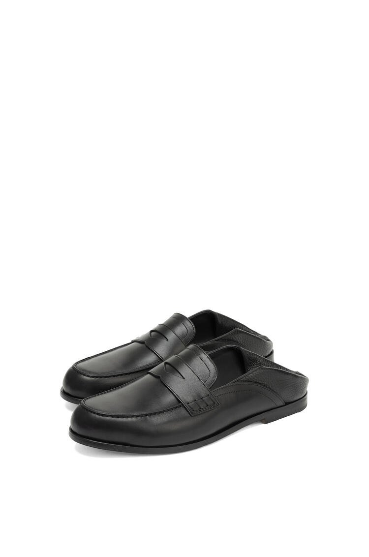 LOEWE Slip on loafer in calfskin Black pdp_rd