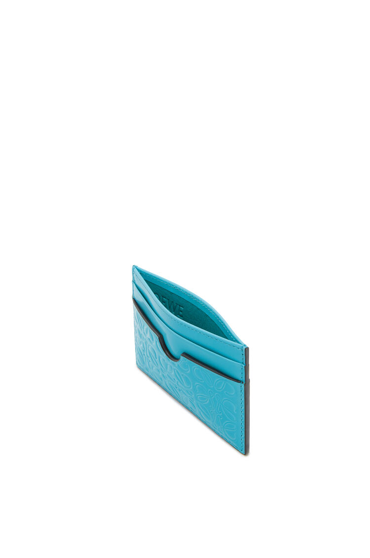 LOEWE Tarjetero liso en piel de ternera Azul Pavo Real pdp_rd