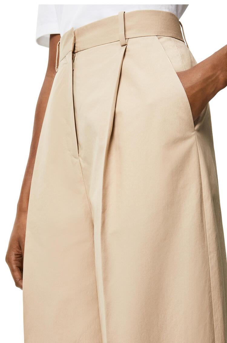 LOEWE Pantalón amplio plisado en algodón Beige pdp_rd