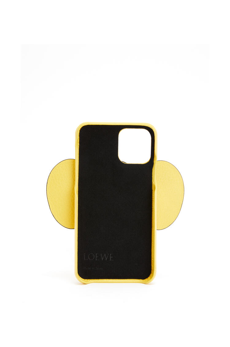 LOEWE Elephant cover for iPhone 11 Pro in classic calfskin Yellow pdp_rd