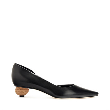 LOEWE Nut Heel Pump 35 Black/Natural front