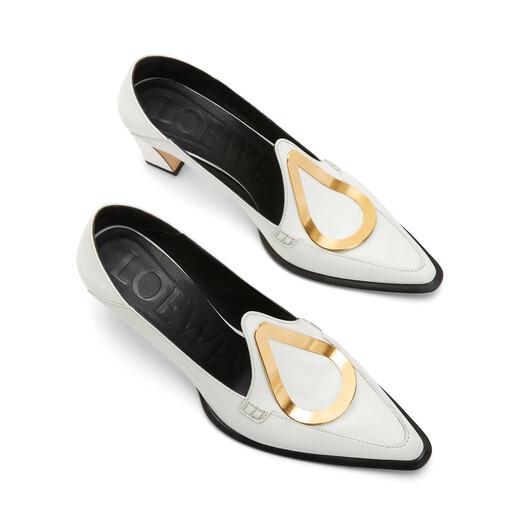 LOEWE Heel Loafer Drop 70 ホワイト front