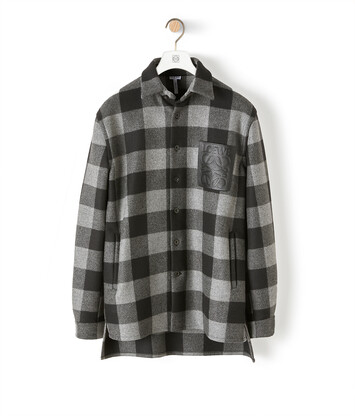 LOEWE Check Overshirt Grey/Black front