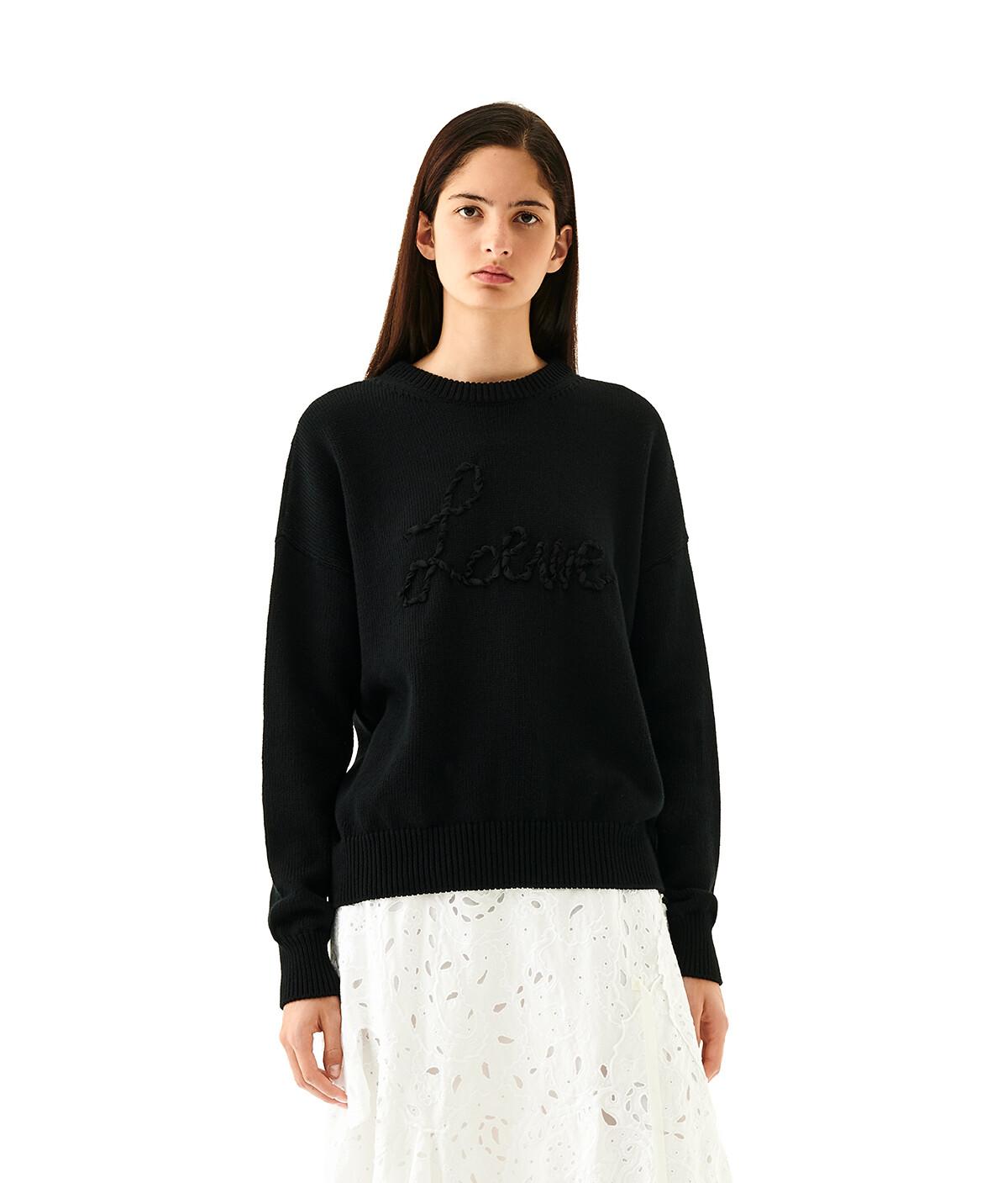 LOEWE Loewe Stitch Sweater Negro front