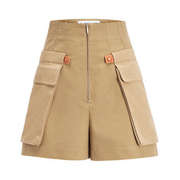 LOEWE Cargo Shorts 米色 front