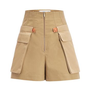 LOEWE Cargo Shorts Beige front