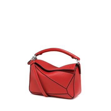 LOEWE Puzzle Mini Bag 猩红色 front