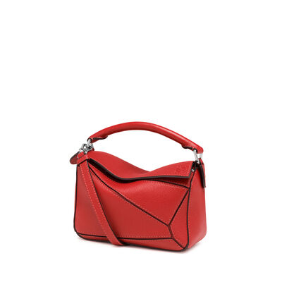 LOEWE Mini Puzzle Bag Scarlet Red front