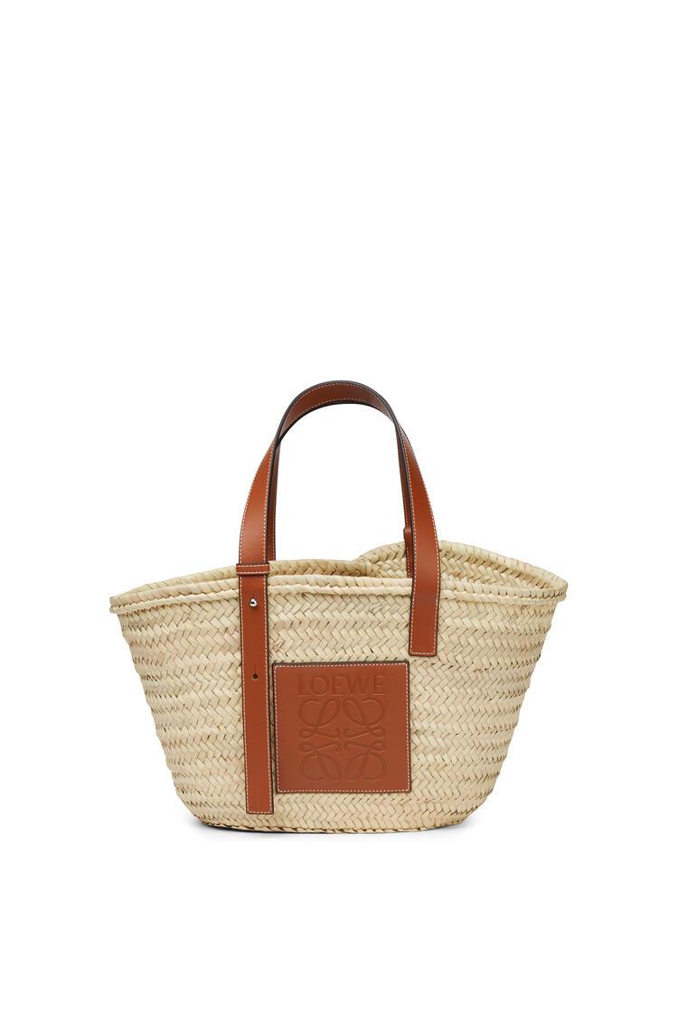 LOEWE バスケットバッグ(ヤシの葉&カーフスキン) ナチュラル/タン pdp_rd