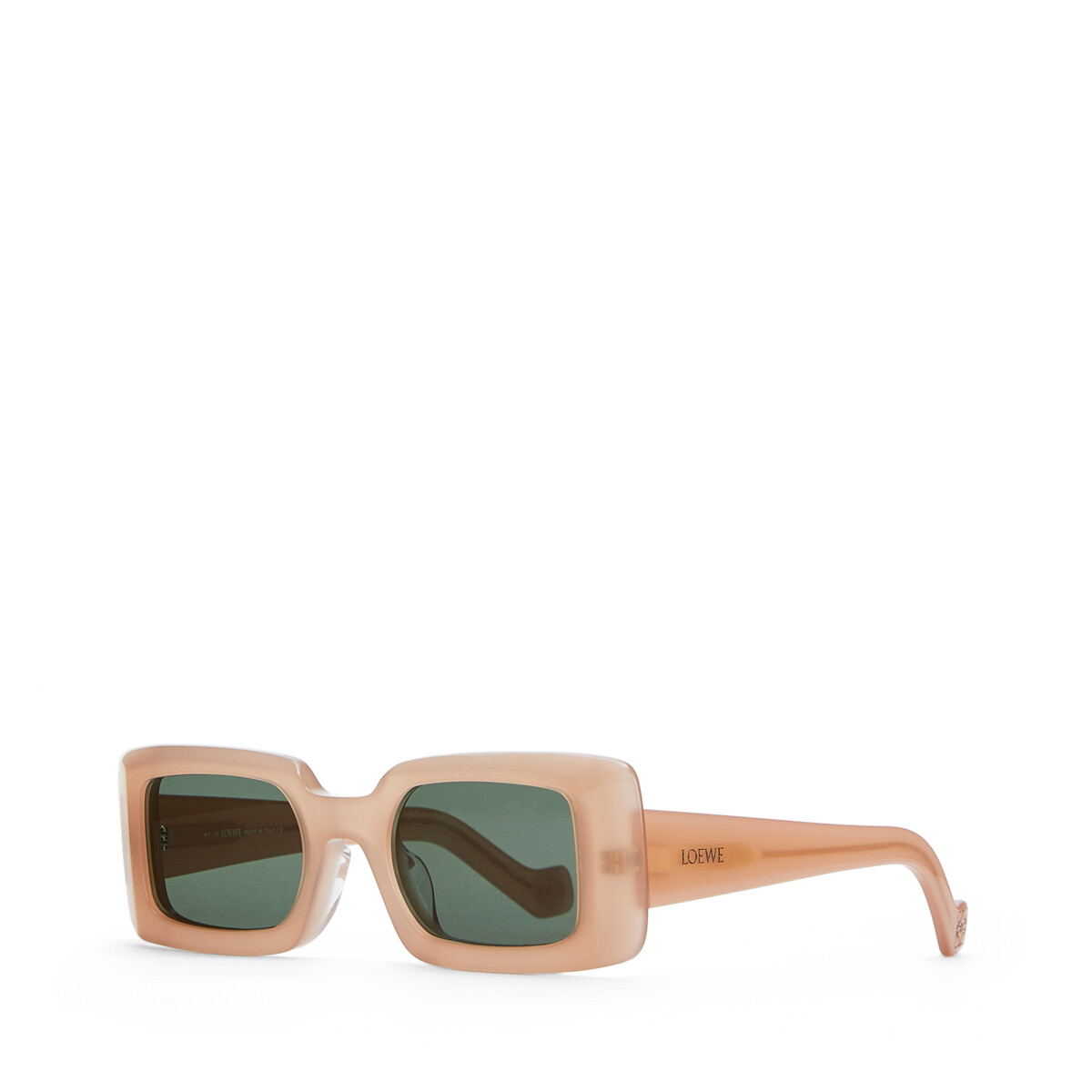 LOEWE Acetate Square Sunglasses Pink/Green Smoke front