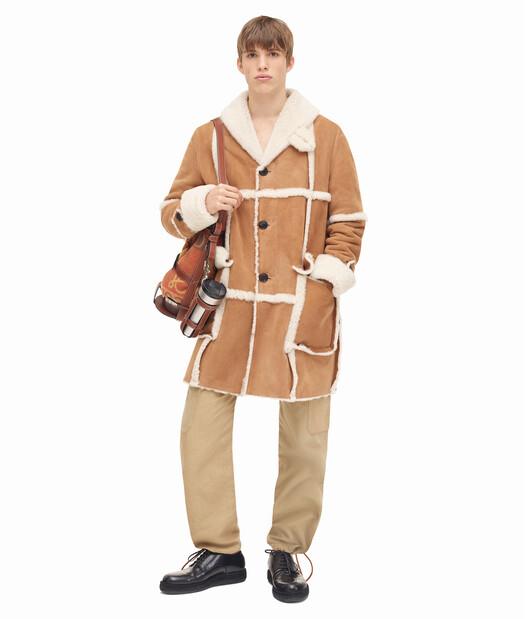 LOEWE Shearling Coat Camel front