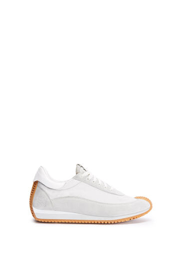 LOEWE Flow runner in nylon Grey/White pdp_rd