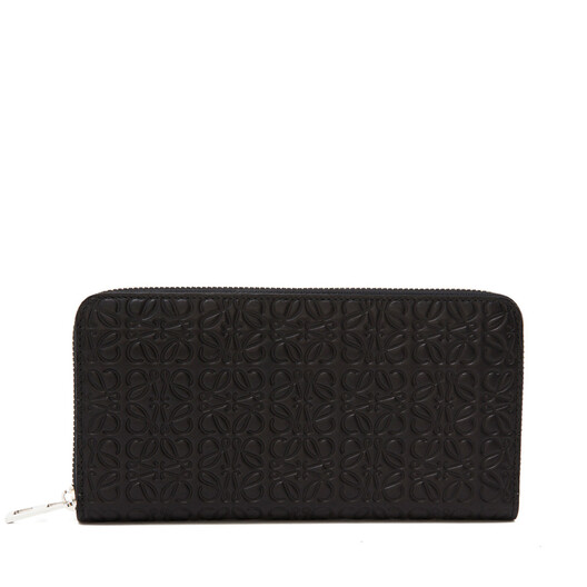 LOEWE Repeat Zip Around Wallet 黑色 front