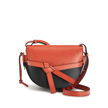 LOEWE Gate Colour Block Small Bag Vermillion/Black front